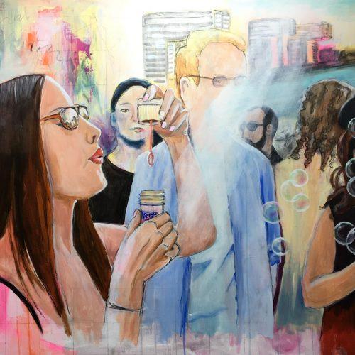 Summertime, 90 x 120 cm, Acryl auf Leinwand