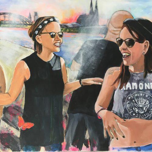 Butterfly, 60 x 80 cm, Acryl/MixedMedia auf Leinwand