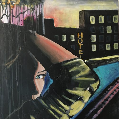 Bring on the night, 70 x 100 cm, Acryl auf Leinwand, sold/verkauft