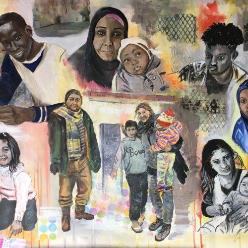 Beloved people, 70 x 100 cm, Acryl auf Leinwand, sold/verkauft