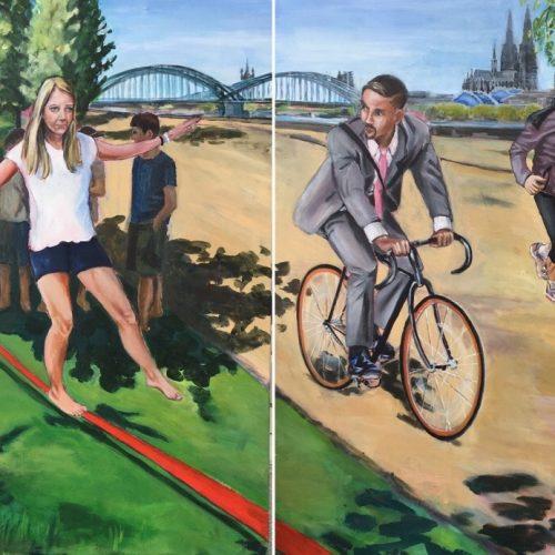 Move, 100 x 200 cm, Acryl auf Leinwand