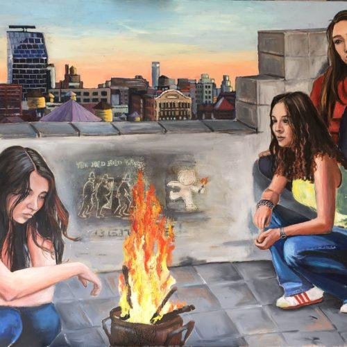 My Sisters, 90 x 120 cm, Öl auf Leinwand