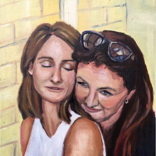 Two Sisters, 40 x 50 cm, Öl auf Leinwand