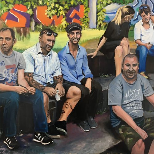 The Survivors, 90 x 110 cm, Öl auf Leinwand